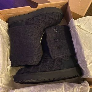 Lattice Cardy Ugg Knit Boots